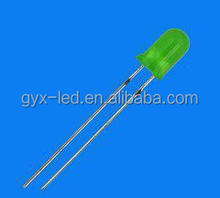 2.0V ROHS compliant 3mm green round led diode lamp