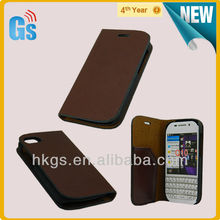 For Blackberry Q10 Leather Bi-Fold Wallet Case with Card ID Money Slots