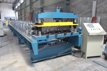 High Quality Glazed Floor Metal Steel Deck Cold Roll Forming Machine in European