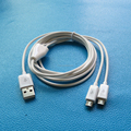 24AWG 2 in 1 micro usb spliter data charger cable 2meter 6ft