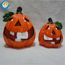 Halloween artifical ceramic pumpkin light decorations Wholesale