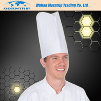 12 IN top pro chef cap 80gsm disposable paper chef hat