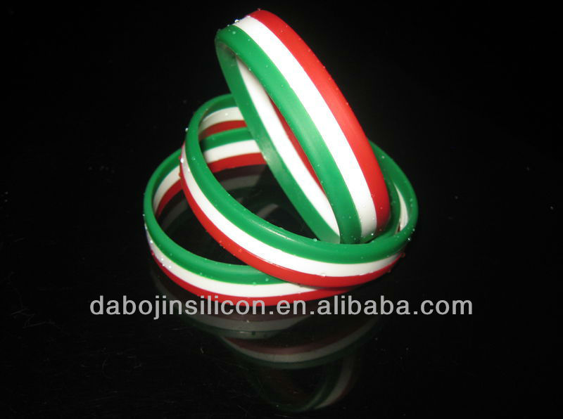 2013 ITALY National Flag Silicone Bracelet/Wristband for 2014 World Cup
