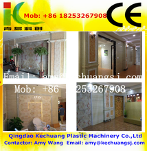 PVC Imitation Marble Sheet Production Line / PVC Stone Sculpture Flooring Extruder