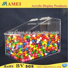 Top Popular square acryic candy bin candy box sweets bin sweets box dispenser
