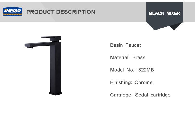 Wholesale Prices OEM BLACK Waterfall Basin Sanitary Faucet Mixer