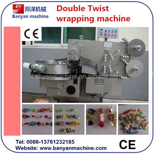 Hard Sweet Candy / Confectionery Products double twist wrapping machine