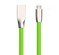 Diamond-shaped Rhombus TPE Tangle Free Zinc Alloy Plug USB 2.0 Charge/Sync Data Cable for Android