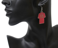 No. 99 basketball shape cute clothes 4 colors depict drip earrings cheap earrings female exaggerated statement