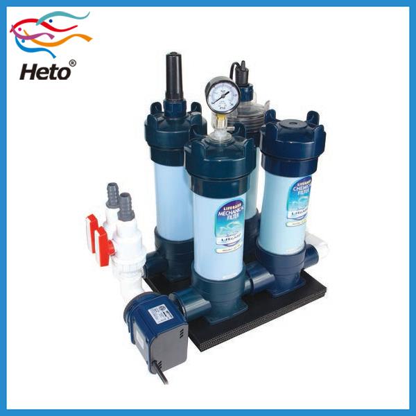 Heto af series aquarium cartridge koi pond filter with for Mechanical pond filter