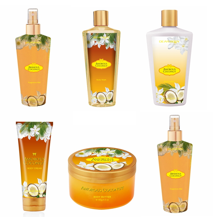 Family Skin Care Full Bath Set Including Shower Gel/Butter/Body Cream/Perfume for Wholesale