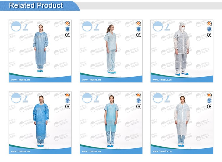 Hospitals laboratories 45g non-woven fabric disposable dental bibs