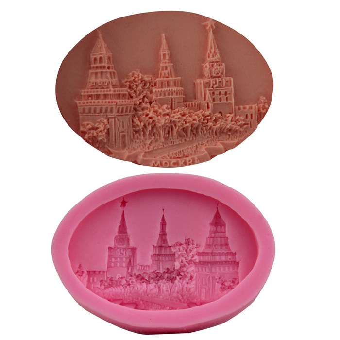 Hogwarts Castle Village Silicone Mold for Gum Paste Silicone Castle Cake Mold