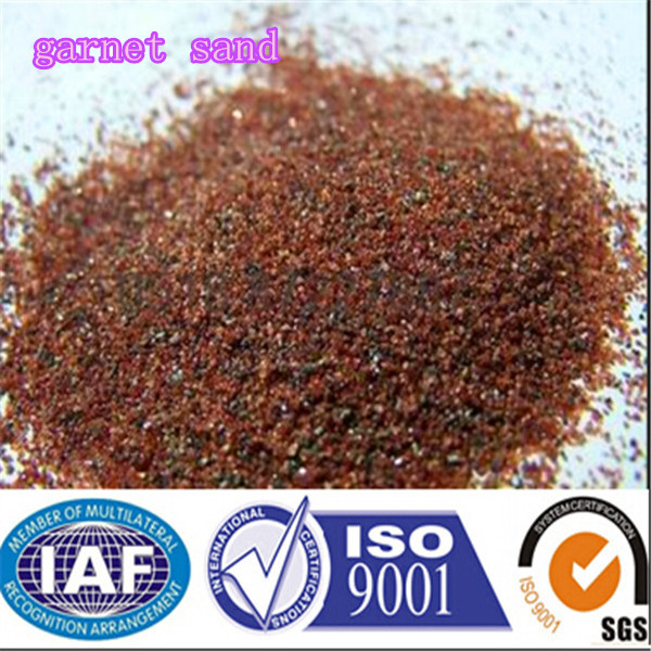 water jet cut oil and gas pipelines almandine garnet 80