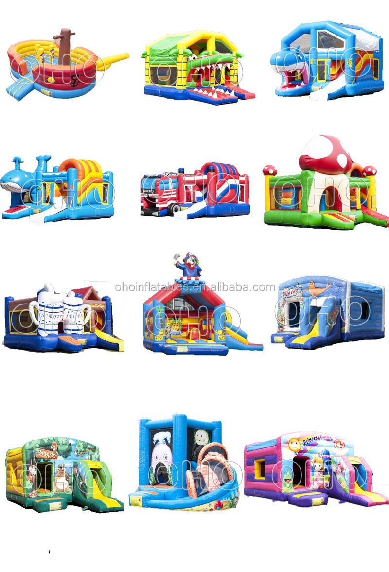 Guangzhou OHO happy christmas inflatable boucny castle for kids