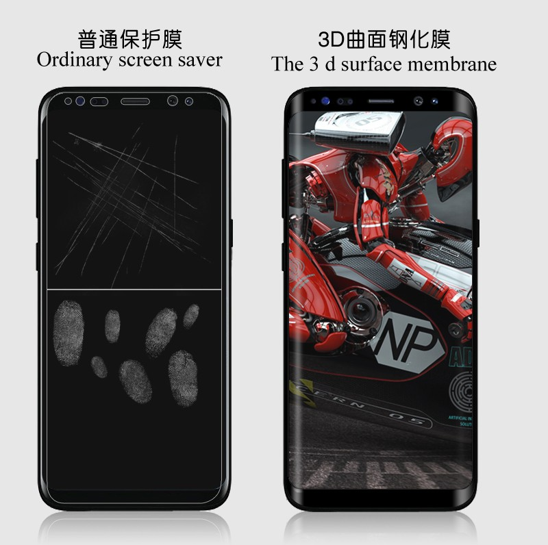 Screen protector 3D Temperend glass film for S8 full cover 9 H screen protector protectived for S8 /s8 plus glass film