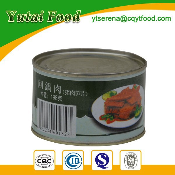 OEM Brands Tinnned Sliced Pork with Bamboo Shoots
