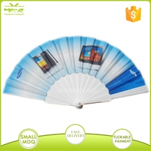 promotional plastic folding fan with logo printing