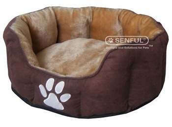NEW!!! Factory PRICE Plush Dog Bed with Paw Printing