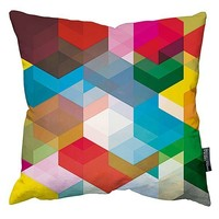 Fashionable digital printed fabric home decor floor pillow with hidden zipper