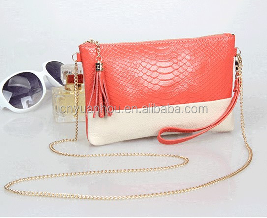 New Arrival Crocodile Genuine Leather Handbag with Chain Shoulder Strap