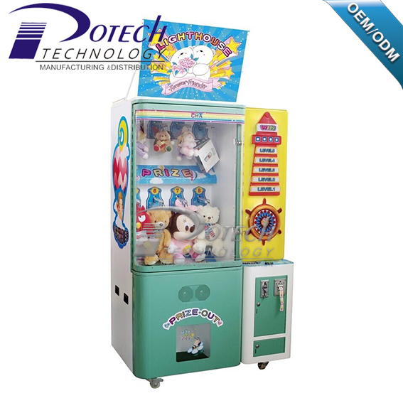 Light house catch toy claw crane vending game machine for children