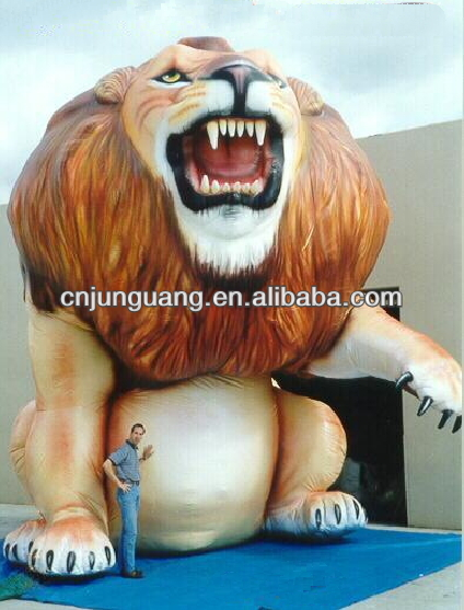giant advertising inflatable lion