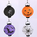Pumpkin grimace pattern foldable paper lighting lantern for Halloween