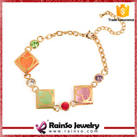artificial cheap gold clasp chain bracelets for girl