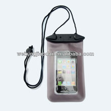 PVC waterproof bag for iphone 5 4s in swimming diving
