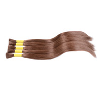 new arrival 10-30 inch brazilian human virgin bulk hair extension color brown
