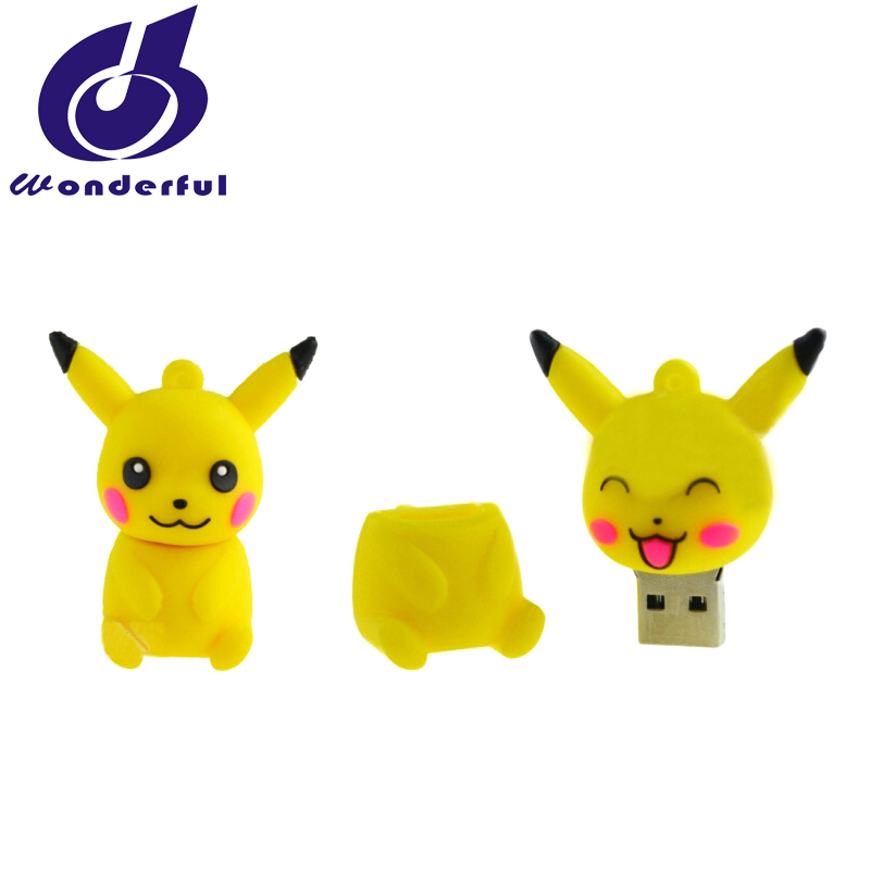 Promotional Gift PVC Pikachu Usb Flash Drive 1GB- 32GB