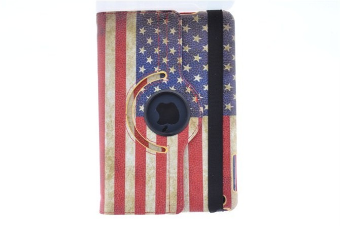USA & UK National Flag 360 Degree Rotating Stand PU Leather Cover Tablet Protective Case For ipad 2 3 3 4 5 6