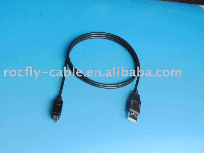 Black PVC molding USB AM TO 1394 i-link 4 PIN usb charger cable from cable supplier