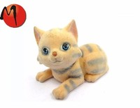 Products mini flocked animal toy