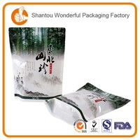 Zipper bag manufacturer food packing pouch with metalized stand up bag with zipper for food