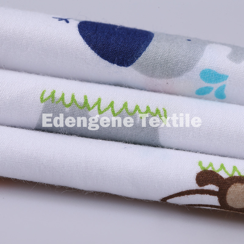 40 * 40 100% cotton brushed poplin printed woven organic cotton fabric for children