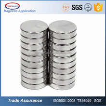 Industrial Magnet Application and Permanent Type Neodymium Magnet N52 1.26 x 1/16""