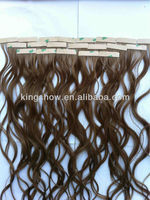 Glue in Tape Wavy Remy Hair Extensions