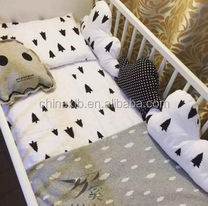 European Style Cotton Crib Baby Bedding Set Suitable for Baby