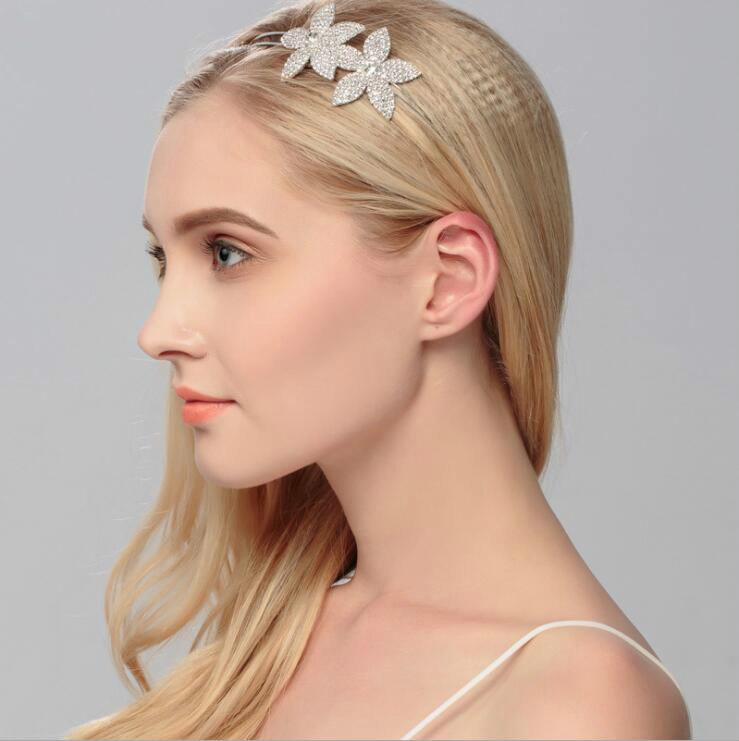 Flower crown pagent Rhinestone Crystal Bridal Crowns Tiaras for Women