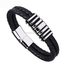 Unistyle Fashion Wholesale Braided Handmade Jewelry Magnetic Leather Bracelet