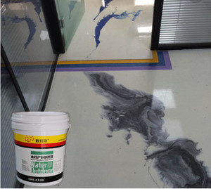 Clear epoxy paint for concrete floors resin 3D Floor Paint