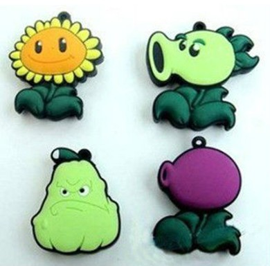 factory price pvc funny plants vs zombies usb flash drive