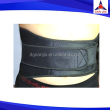 3mm Neoprene elastic Neoprene spine belt polyester fabric waist belt