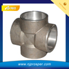 stainless steel four way joint socket weld cross (YZF-L062)