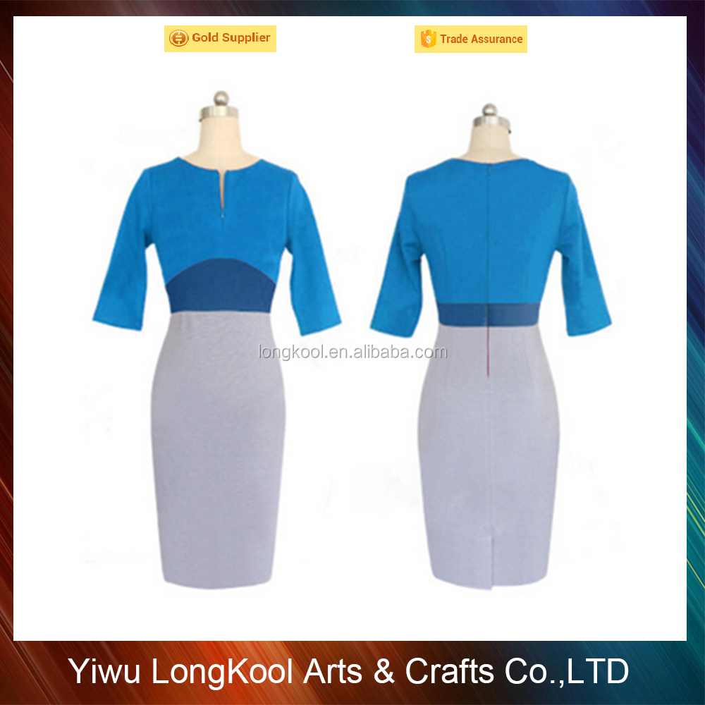 Yiwu factory direct sales cheap formal dress charming women office dress