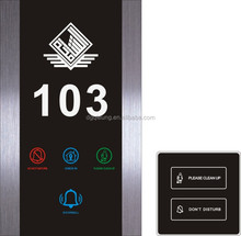 QLeung Touch screen hotel room number signs door plate electronic doorplate with room number House Number Door Plate