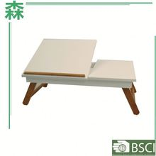 Yasen Houseware Study Table And Cabinet Folding Table With Cup Holder Wooden Laptop Table