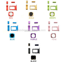 Wholesale colorful accessories for iphone 5 home button sim holder volume mute on off button replacement